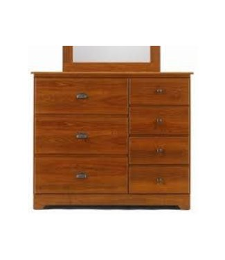 LANG BAYFIELD - TRADITIONS CHERRY 7 Drawer Dresser  W/ Roller Glides BAY-02-748
