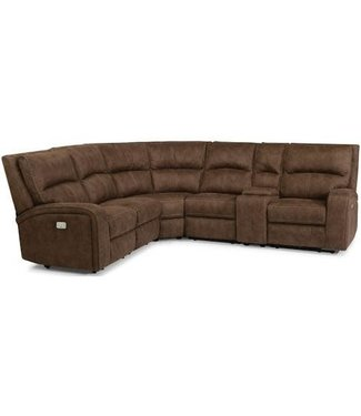 Flexsteel Furniture Rhapsody | 1150-136-72 Power Reclining Sectional with Power Headrests