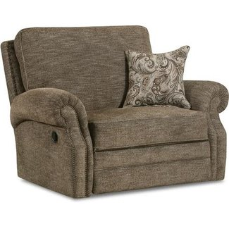 Lane® Home Furnishings 57003 Reclining Canterbury Cuddler - 57003-19-9533D.