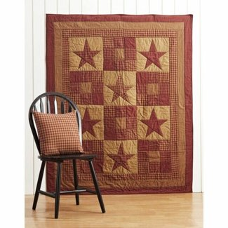 VHC BRANDS VHC Ninepatch Star Quilted Throw 60x50