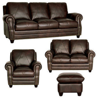 Luke Leather Solomon | Sofa/Love/Chair & Ottoman