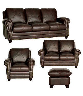 Luke Leather Solomon | Sofa/Love/Chair & Ottoman