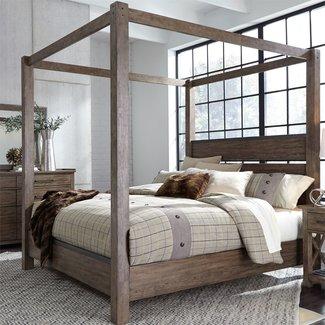 Liberty Furniture Sonoma Road Queen Canopy Bed (473-BR-QCB)