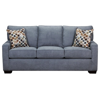 Lane Home Furnishings Blue Queen Sleeper Sofa-9025-04Q-9166A