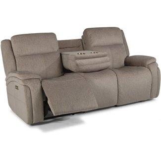 Flexsteel Furniture Rocket | Power Reclining Sofa with Power Headrests 1486-62PH in 649-72