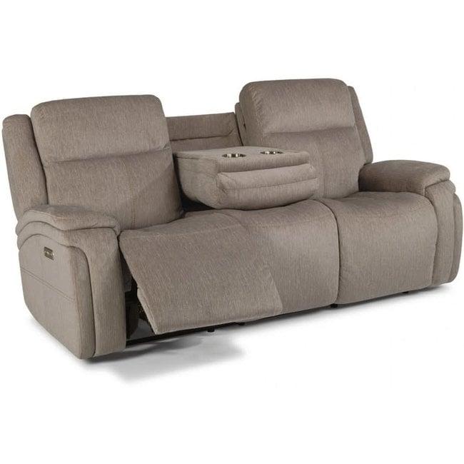 Rocket Contemporary Power Reclining Sofa with Power Headrest