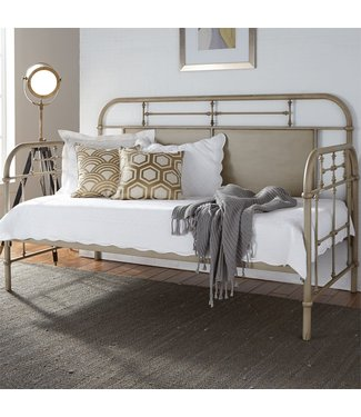 Liberty Furniture Vintage Series Twin Metal Day Bed - Vintage Cream 179-BR11TB-W
