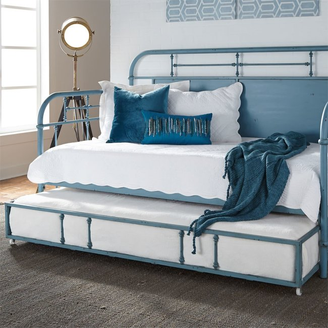 Liberty Furniture Vintage Series Twin Metal Trundle - Blue 179-BR11T-BL