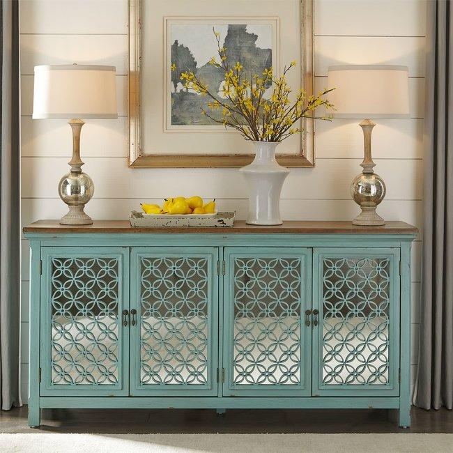 Liberty Furniture Kensington  4 Door Accent Cabinet SKU: 2011-AC7236