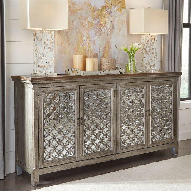 Liberty Furniture Westridge 4 Door Accent Cabinet SKU: 2012-AC7236