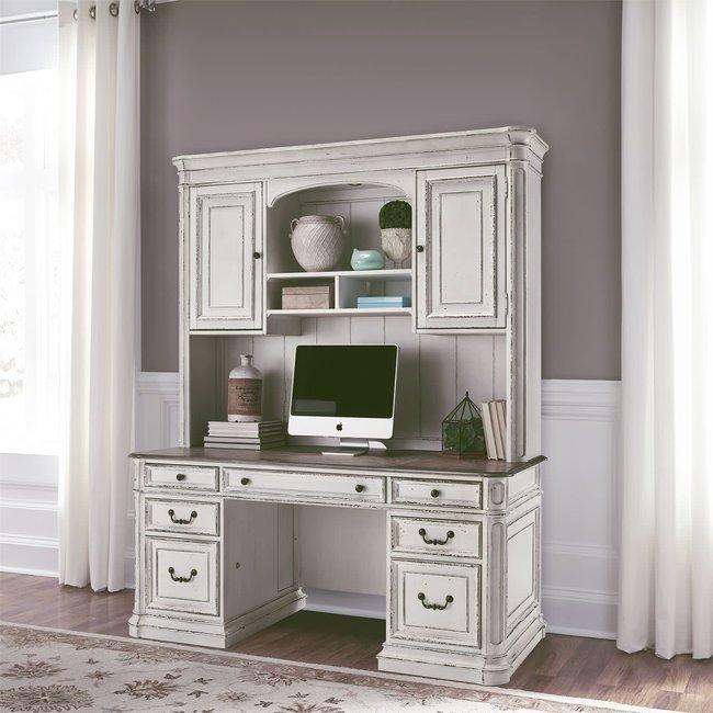 Liberty Furniture Magnolia Manor (244-HOJ) Credenza & Hutch SKU: 244-HOJ-CHS