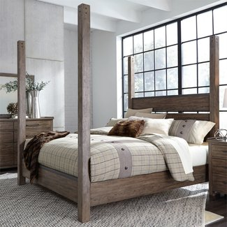 Liberty Furniture Sonoma Road Queen Poster Bed (473-BR-QPS)