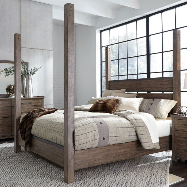 Liberty Furniture Sonoma Road King Poster Bed (473-BR-KPS)