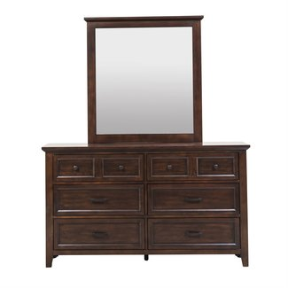 Liberty Furniture Laurel Creek Dresser & Mirror (461-BR-DM)