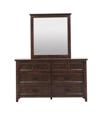 Liberty Furniture Laurel Creek Dresser & Mirror (461-BR-DM)