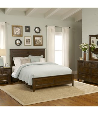 Liberty Furniture Laurel Creek Queen Panel Bed, Dresser & Mirror, Chest, N/S (461-BR-QPBDMCN)