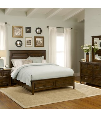Liberty Furniture Laurel Creek Queen Storage Bed, Dresser & Mirror, Chest, N/S (461-BR-QSBDMCN)