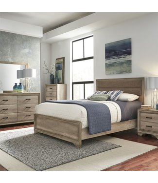 Liberty Furniture Sun Valley Queen Uph Bed, Sun Valley (439-BR) Upholstered Bed, Dresser & Mirror, Chest, NS 439-BR-QUBDMCN