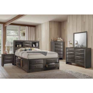 Crown Mark B4275 Emily | Capitans Bedroom Suite GRAY