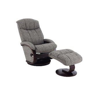 Mac Motion Alta Recliner and Ottoman in Teatro Graphite Fabric