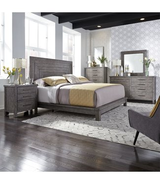 Liberty Furniture Modern Farmhouse (406-BR) Queen Platform Bed, Dresser & Mirror, Chest, N/S SKU: 406-BR-QPLDMCN