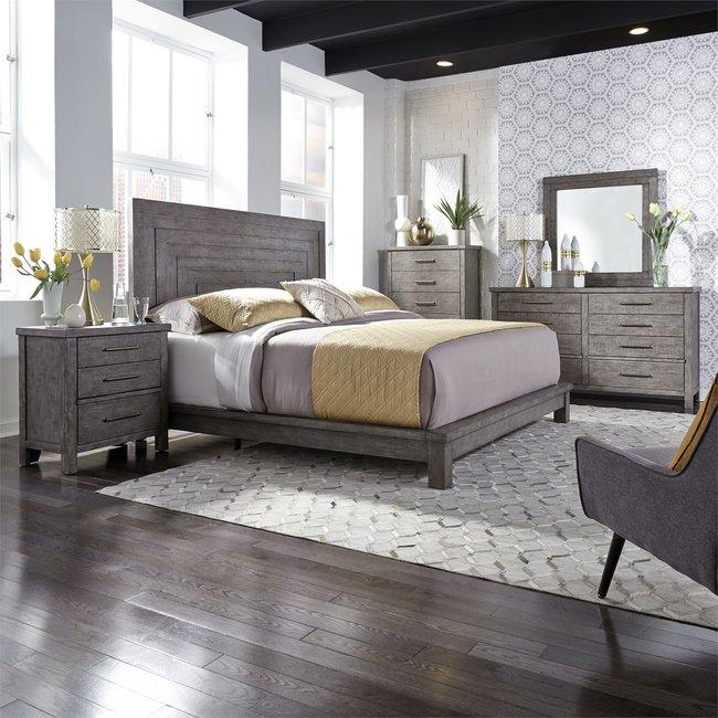 Liberty Furniture Modern Farmhouse (406-BR) Queen Platform Bed, Dresser & Mirror, Chest, N/S SKU: 406-BR-QPLDMCN