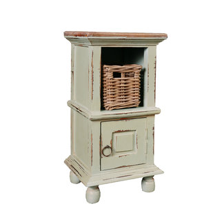 Sunset Trading CC-TAB016TLD-CMRW-B | End Table with Basket