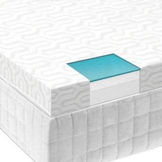 "Malouf Sleep Isolus 2.5"" Liquid Gel Air Memory Foam Mattress Topper"