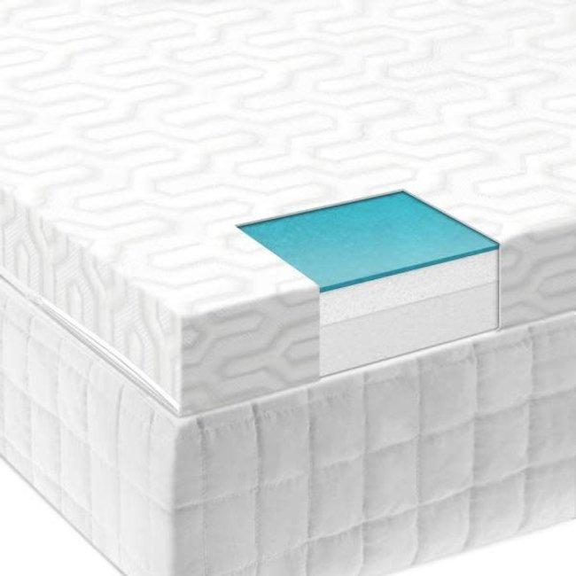 "Malouf Isolus 2.5"" Liquid Gel Air Memory Foam Mattress Topper"