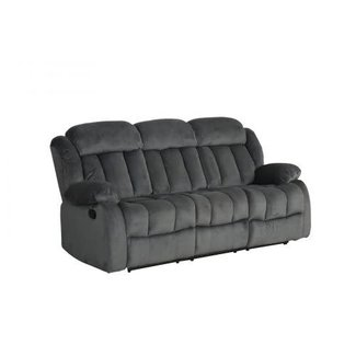Sunset Trading Reclining Sofa in Charcoal