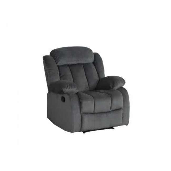 Sunset Trading SU-LN550 Collection | Rocking Reclining Chair in Charcoal
