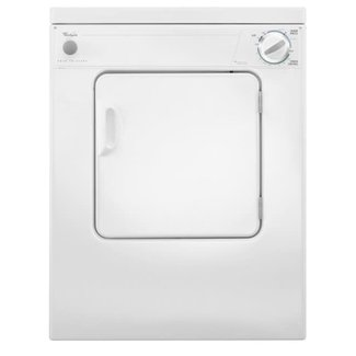 Whirlpool Whirlpool LDR3822PQ 24 Inch Electric Dryer with 3.4 cu. ft. Capacity, 3 Dry Cycles, 3 Temperature Settings, AccuDry Sensing System, in White