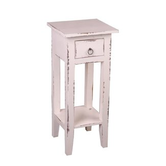 Sunset Trading COTTAGE SIDE TABLE-WHITE WASH