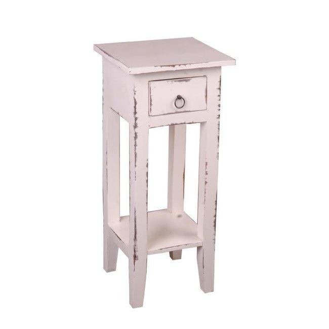 Sunset Trading COTTAGE SIDE TABLE-WHITE WASH