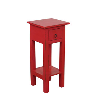 Sunset Trading CC-TAB1792LD-AR | Narrow Side Table | Distressed | Antique Red