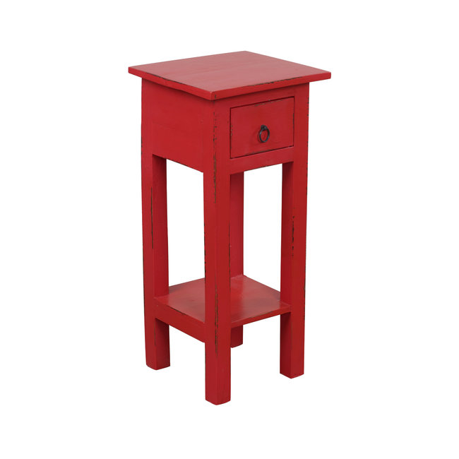 Sunset Trading CC-TAB1792LD-AR   Narrow Side Table   Distressed   Antique Red