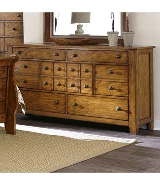 Liberty Furniture Grandpas Cabin (175-BR) 7 Drawer Dresser SKU: 175-BR31