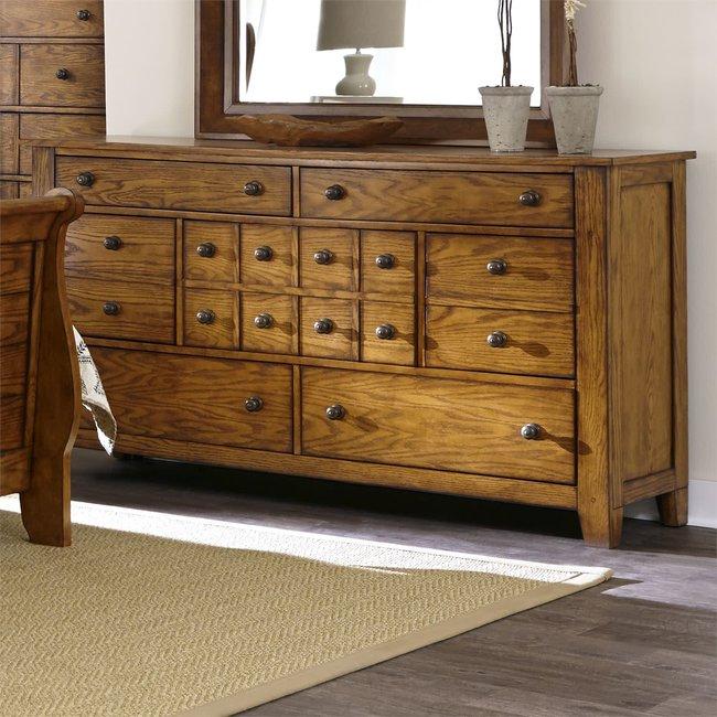 Liberty Furniture Grandpas Cabin 7 Drawer Dresser SKU: 175-BR31