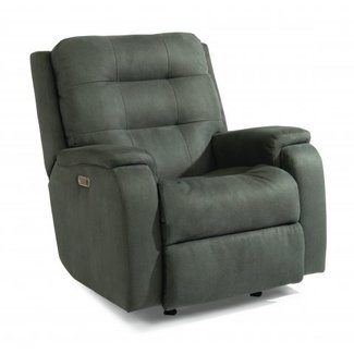 Flexsteel Furniture Arlo | Power Rocking Recliner with Power Headrest, Lumbar
