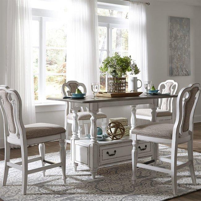 Liberty Furniture Magnolia Manor (244-DR) 5 Piece Gathering Table Set SKU: 244-DR-5GTS