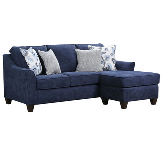 Lane Home Furnishings Sheffield Prelude Navy Sofa with Chaise-4330-03SC-9417A