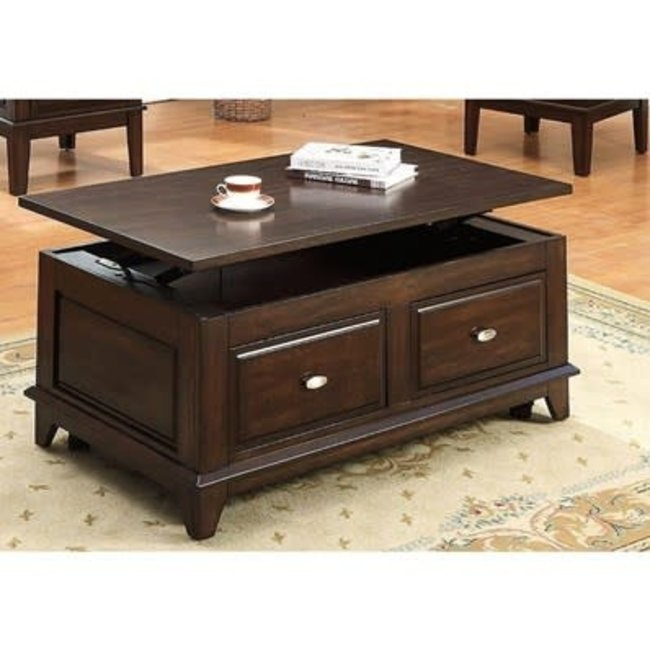 Crown Mark Harmon | Lift Top Coffee Table with Caster 4111-01