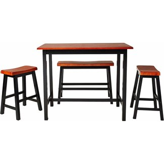 Crown Mark Tyler 4-Piece Counter Height Table Set 2729SET