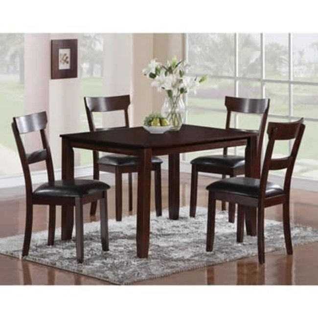 Crown Mark HENDERSON 5 PIECE DINING TABLE AND CHAIR SET BY CROWN MARK henderson collection SKU: 2254SET