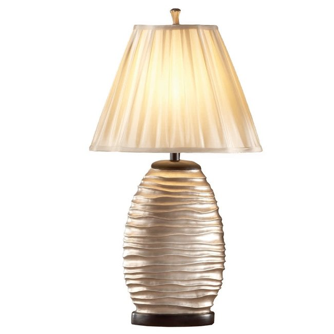 Bernards Bee Hive    Silver Lamps BR6857 SET OF 2