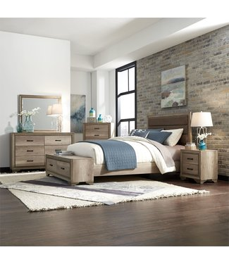 Liberty Furniture Sun Valley (439-BR) Queen Storage Bed, Dresser & Mirror, Chest, N/S SKU: 439-BR-QSBDMCN