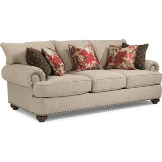 Flexsteel® Patterson  FABRIC SOFA WITH NAILHEAD TRIM 7322-31