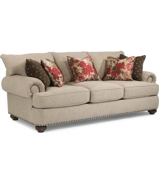 Flexsteel Furniture Patterson  FABRIC SOFA WITH NAILHEAD TRIM 7322-31