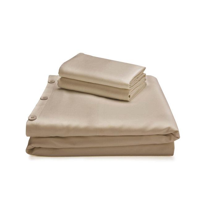 Malouf Woven Bamboo Duvet Cover Set