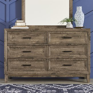 Liberty Furniture Ridgecrest (384-BR) 6 Drawer Dresser SKU: 384-BR31